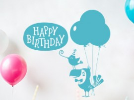 sticker autocollant happy birthday fete anniversaire