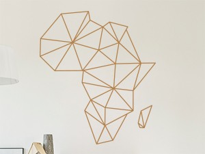 Sticker Carte d'Afrique Géométrique