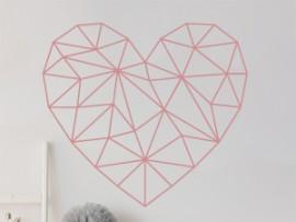 Sticker Coeur Géométrique