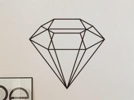 Sticker Diamant Géométrique