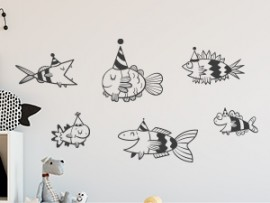sticker autocollant poissons enfant