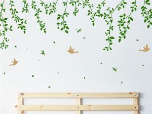 Sticker Suspension Florale et Oiseaux