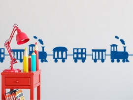 sticker autocollant frise train enfant