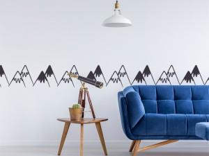 Sticker Frise Montagnes