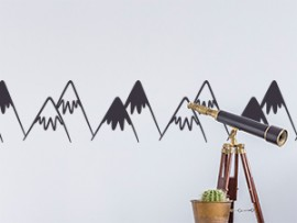 sticker autocollant frise montagnes montagne
