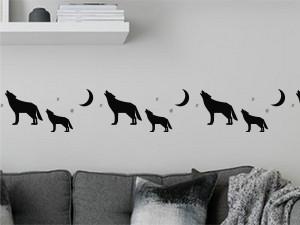 Sticker Frise Loup