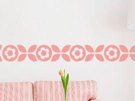 Sticker Frise Deco Fleurs