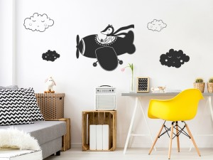 Sticker Petit Avion Nuage