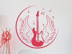 Sticker Guitare Angel