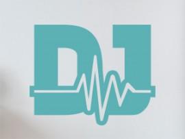 Sticker  autocollant vinyle Musique DJ Electro