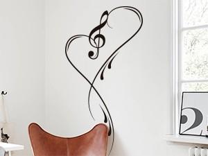 Sticker Musique Clé de Sol Love