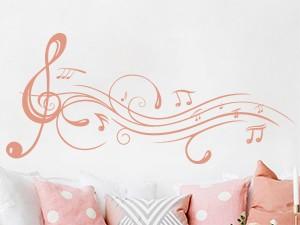 Sticker Partition Musique Florale 2