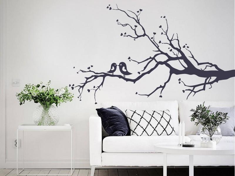 529 Autocollants muraux arbre oiseau famille fleur nurserie papillon kids wall art decals