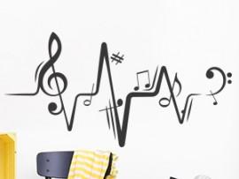 Sticker Partition Musique Electro