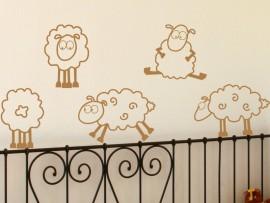 Sticker Autocollant Vinyl Moutons Enfant