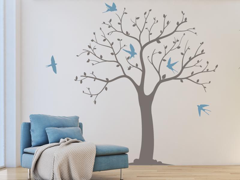 Sticker arbre oiseaux magic stickers - Frise petit prince ...