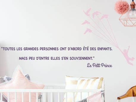 Sticker citation petit prince 4 magic stickers - Frise petit prince ...