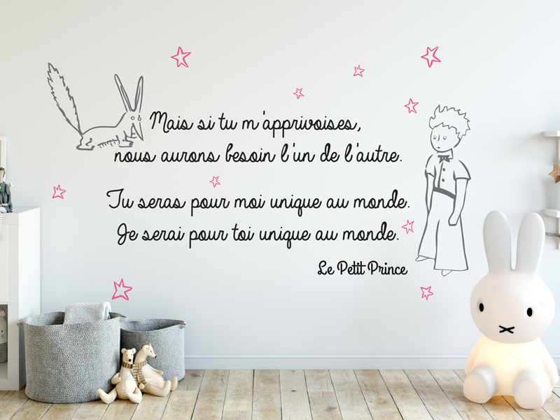 sticker citation petit prince magic stickers. Black Bedroom Furniture Sets. Home Design Ideas