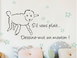 Sticker Dessine moi un mouton