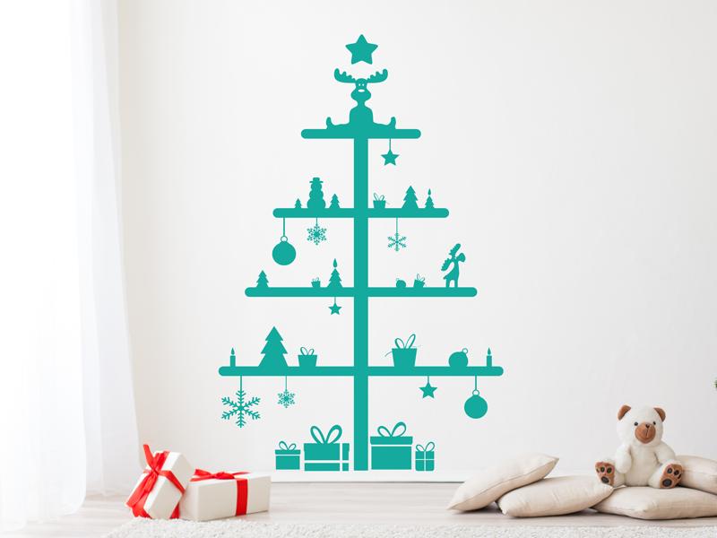 sticker sapin de no l cadeaux 2 magic stickers. Black Bedroom Furniture Sets. Home Design Ideas