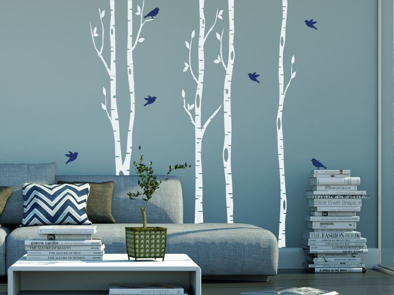 sticker arbres bouleaux magic stickers. Black Bedroom Furniture Sets. Home Design Ideas