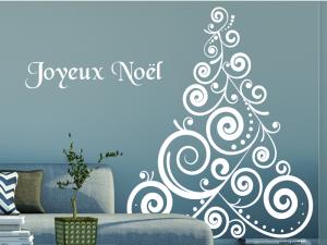 Sticker Sapin de Noël Baroque 3