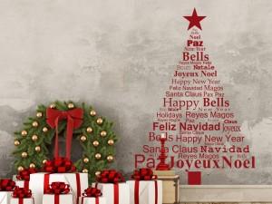 Sticker Sapin de Noël Texte