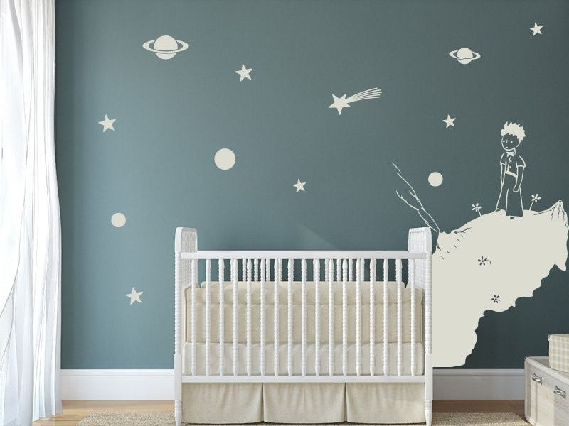sticker le petit prince 2 magic stickers. Black Bedroom Furniture Sets. Home Design Ideas