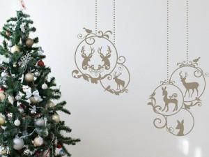 Sticker Boules de Noël Décoratives