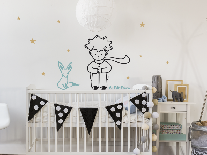 sticker le petit prince et le renard magic stickers. Black Bedroom Furniture Sets. Home Design Ideas