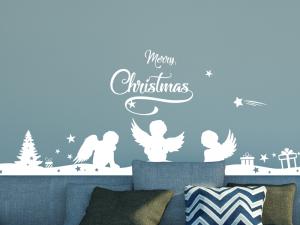 Sticker Frise Anges de Noël