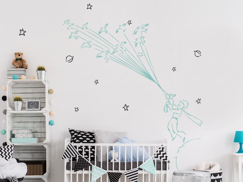 sticker le petit prince 3 magic stickers. Black Bedroom Furniture Sets. Home Design Ideas