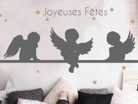 Sticker Anges de Noël Etoiles