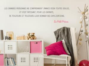 Sticker Citation Petit Prince 2