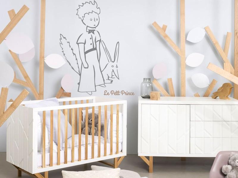 sticker le petit prince et le renard 2 magic stickers. Black Bedroom Furniture Sets. Home Design Ideas