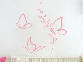 Sticker Papillons Fleur