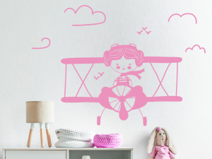 Sticker Avion Fille