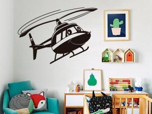 Sticker Hélicoptère Enfant