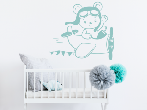 Sticker Avion Ourson