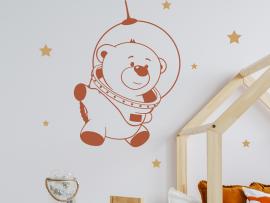 Sticker Cosmonaute Ours