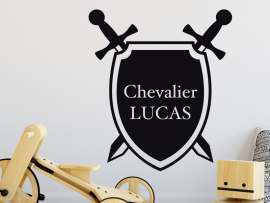 Sticker Bouclier Chevalier