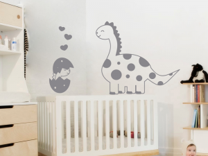 Sticker Dinosaure et son bébé