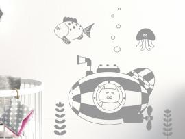 Sticker Ourson Sous-marin