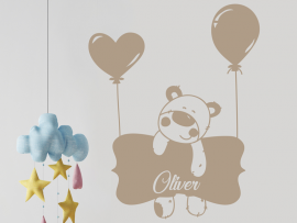 Sticker Ourson Ballon
