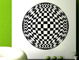 Sticker Boule à Facettes Illusion