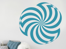 Sticker Fleur Illusion