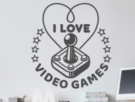 Sticker I love Video Games