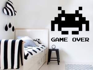 Sticker Space Invaders Pixel