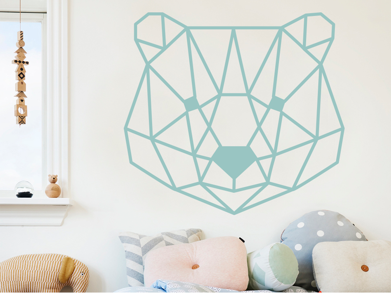 sticker t te ours g om trique magic stickers. Black Bedroom Furniture Sets. Home Design Ideas