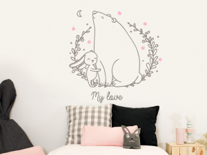 Sticker L'amour Ours Lapin